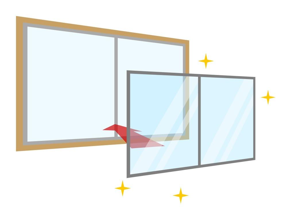 簡単簡易二重窓キットの取り付け方